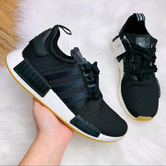 Adidas Shoes Originals Nmd R1 Black Gum Sole Poshmark